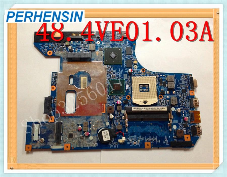 اللوحة الأم الأصلية للكمبيوتر المحمول Lenovo B570e B570 ، مكون غير متكامل ، يعمل بشكل جيد ، 48 ، 4ve01.03a ، 48.4VE01.0SA ، HM65 DDR3 100%