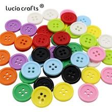 Lucia-artisanat boutons plastique ronds en résine   Artisanat, lot de 50/100, chemise pour enfants, vêtement E0401
