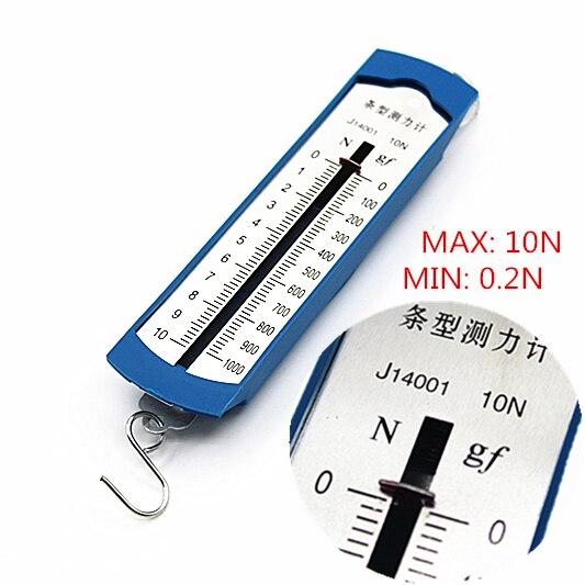 Venta al por mayor 10N medidor de Newton/medidor de fuerza caja de barra muelle dinamómetro equilibrio física