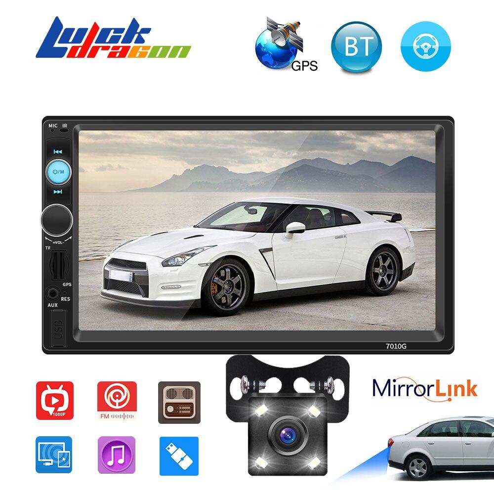 Leitor de Cassetes Rádio do carro Autoradio MP5 2 Din Touch Screen GPS Do Carro AUX Áudio Estéreo Bluetooth FM TF Rádio Auto câmera de Visão traseira