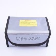 Sac sûr ignifuge de batterie de Lipo de preuve de leau pour la Charge et la batterie de stockage, chargeur, moteur, ESC, bateau de voitures davions de RC 185mm * 75mm * 60mm