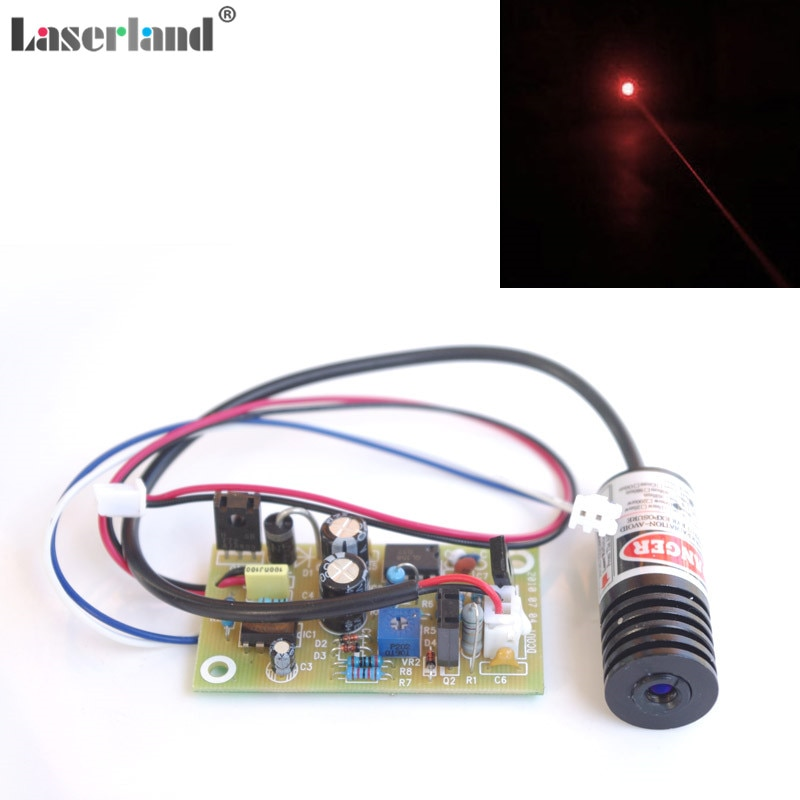18*45mm 100mW 150mW 650nm 655nm 660nm diodo del módulo del láser del punto rojo con controlador externo
