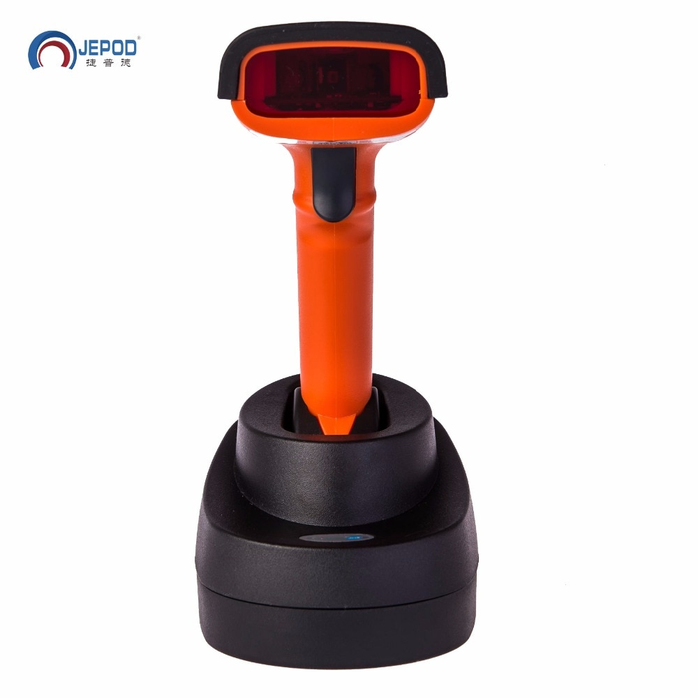 JP-M2 Free shipping! portable long range high solution wireless laser usb memory barcode scanner storage with base