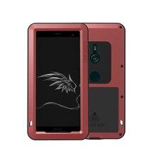 LOVE MEI boîtier en aluminium métallique pour Sony Xperia XZ3 housse puissante armure antichoc durée de vie étui étanche pour Sony Xperia XZ3 Coque