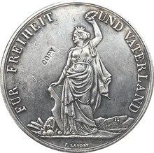 Svizzera 1872 5 Franken di Ripresa Festival monete copia