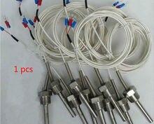 PT100 Schutzrohr Temperatur sensor PT100 platin RTD temperatur sonde ZG 3/8 1/4 1/2 Gewinde 3 drähte Rohr länge 50- 400MM