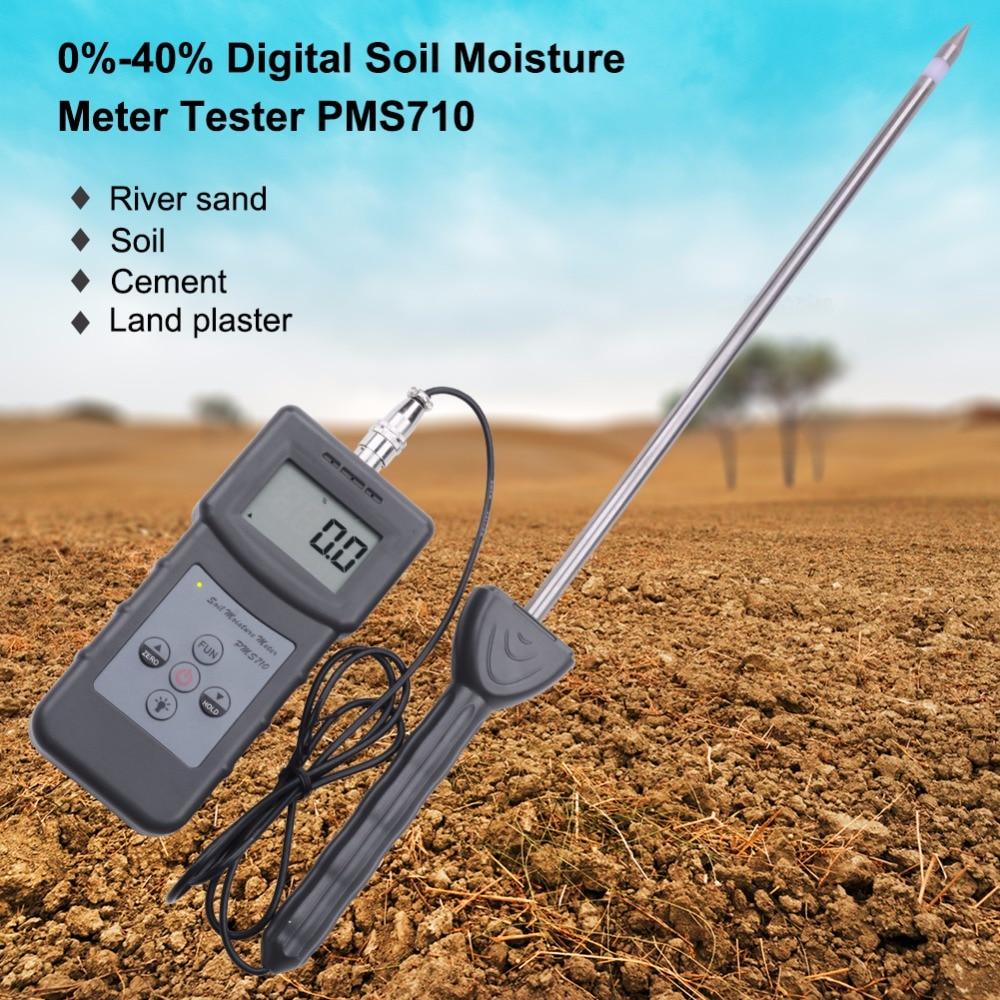 Высокоточный анализатор влажности почвы, гигрометр для речного/грунтового/цементного/стеклянного порошка 0-50%, цифровой измеритель влажности почвы