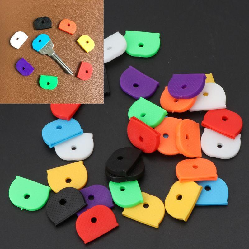 32 Uds. Etiquetas de clave, etiqueta de identificación, código de silicona, Color de la clave de identificación, cubierta, 8 colores
