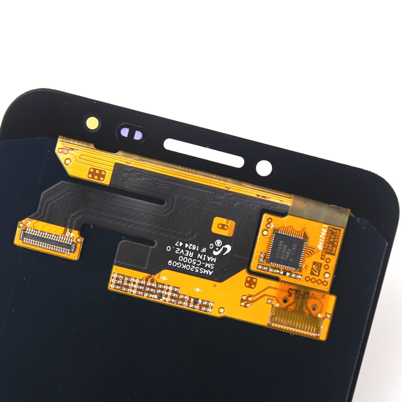 Good quality 5.2'' For C5 lcd screen For mobile phone C5000 lcd display replacement assambly all test good enlarge