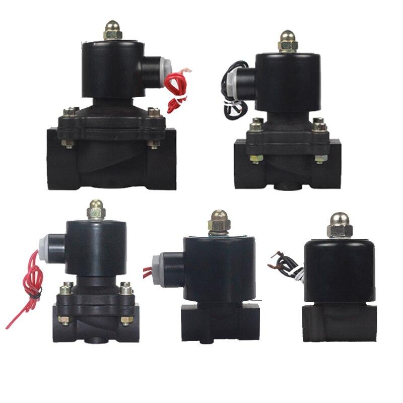 "Novo 2 way bronze bobina de ar gás água válvula solenóide plástico 1/4 ""3/8"" 1/2 ""3/4"" 1 ""1.2"" ""normalmente fechar válvula plásticos engenharia"
