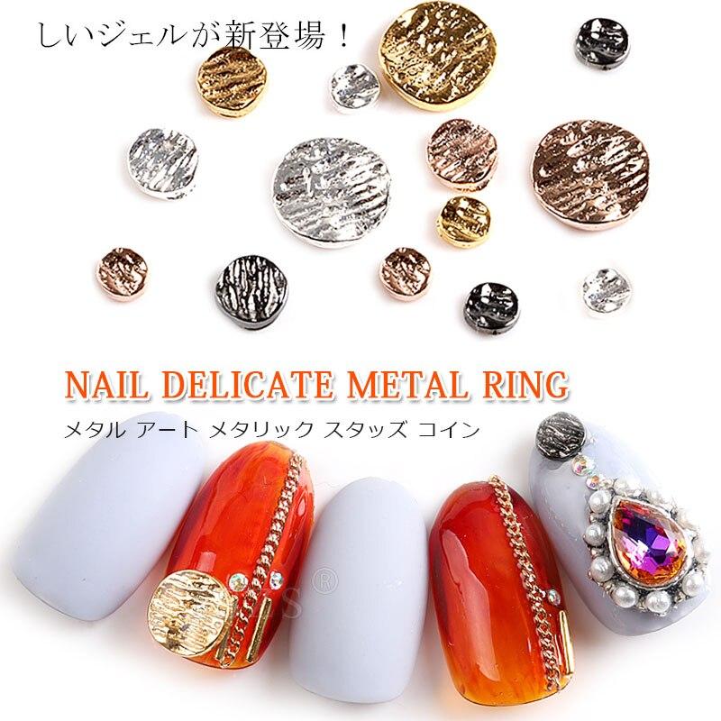 25 teile/los 3mm 5mm 8mm Nagel Kunst Metall Studs nieten Dekoration metall Kreis runde Schraube 3D Legierung strass