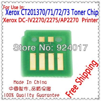 Para Xerox CT201370 CT201371 CT201372 CT201373 Cor Chip Do Cartucho, Para Xerox C2270 C2275 C3370 C3371 C3373 C3375 Chip de Toner