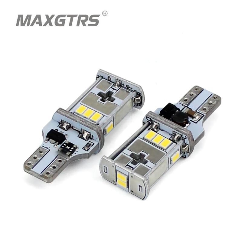 Светодиодные лампы MAXGTRS 2x921 912 T15 W16W, CANBUS, без ошибок, для задних фар автомобиля, белый, янтарный, теплый белый, 4300K