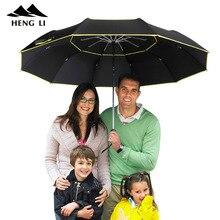 Parapluie de Golf pour hommes   Parapluie de pluie, coupe-vent pour femmes 3. Grand parapluie daffaires, hommes femmes, entièrement automatique