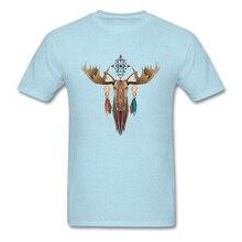 Moose Heersende Mannen T-shirt Ronde Hals Korte Mouw 3D Gedrukte T-shirt Drop Verzending Kerstcadeau T-shirts Lichtblauw Navy rood