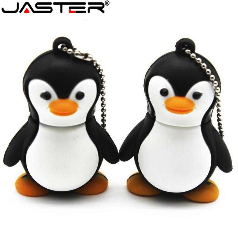 JASTER animales lindos usb flash drive pingüino, zorro 64gb pendrive 32gb usb2.0