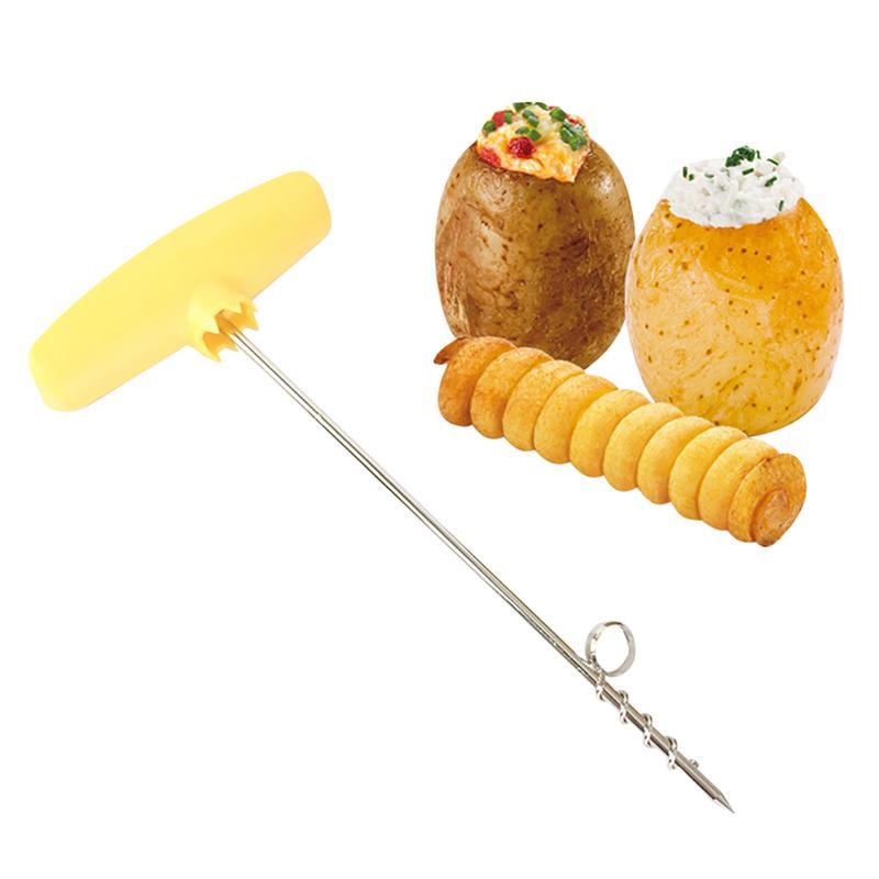 Creative Potato Slicer Rotary Potato Tray Spiral Slicer Knife Handle Cut Potato Roll Kitchen Accessories Potato Tools 40