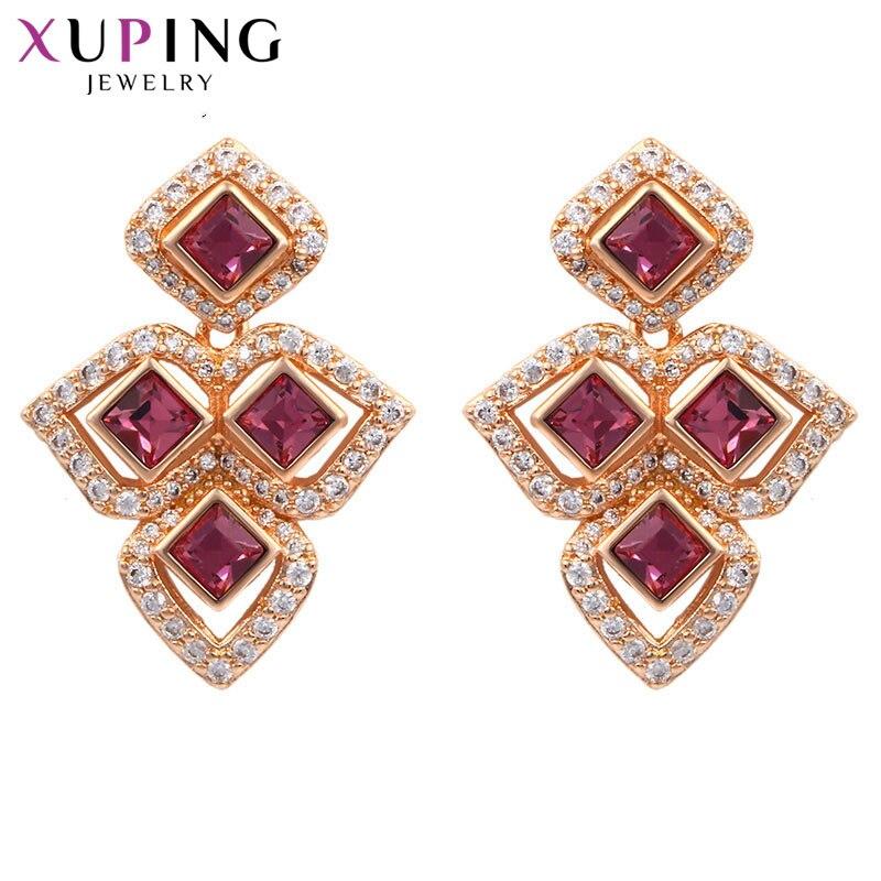 11,11 Xuping pendientes mujer serie clásica cristales de Swarovski joyería de lujo regalo del Día de San Valentín S142.9-91613