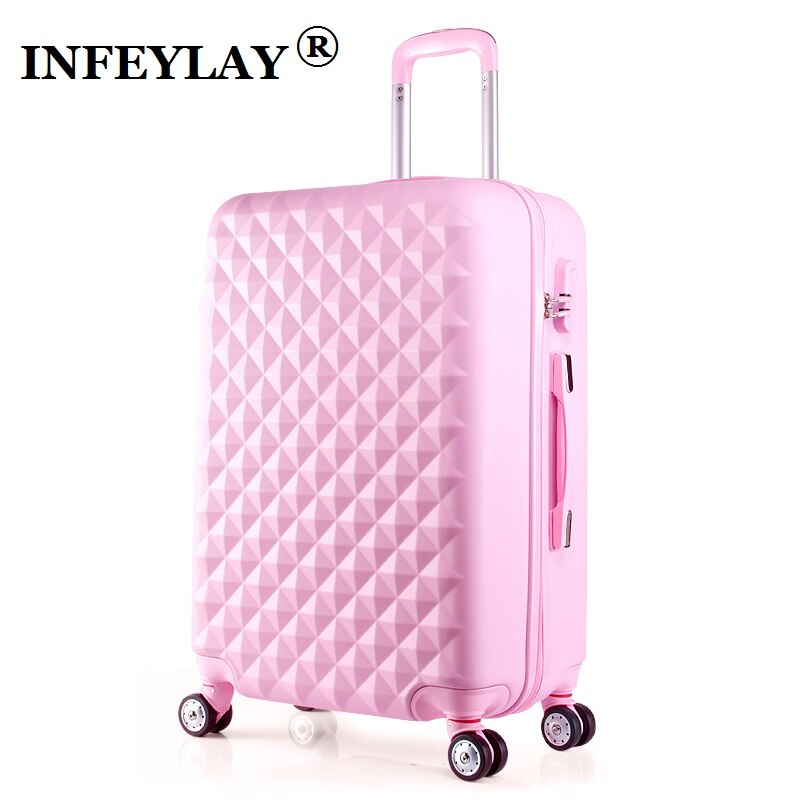 20/24 pulgadas ABS girl students spinner cubierta de carrito niño viaje de negocios equipaje combinación cerradura maleta mujeres caja de embarque