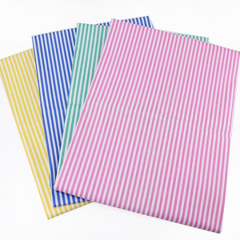 David accessories 50*145 cm 100 por cento de tecido de algodão da listra xadrez para o tecido para crianças roupa de cama home textile para costura tilda boneca, c2022