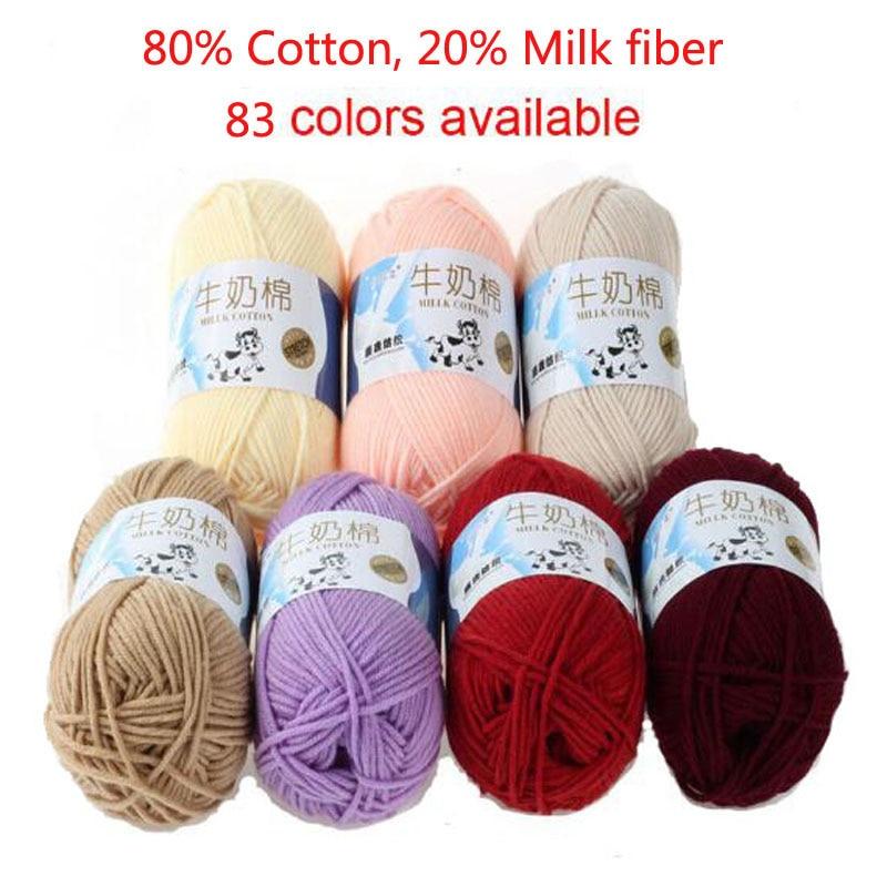 3 teile/los 5 Stränge Milch Baumwolle Stricken Garn Weiche Warme Baby Garn für Hand Stricken natürliche milch baumwolle dickes garn für häkeln