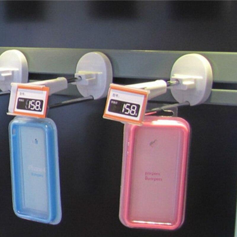 100 pcs 7 inch retail store slatwall anti-theft locking hook groceries display hook anti lost enlarge