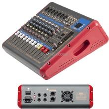 Amplificateur de table de mixage numérique Pro 1200 Watts 9 canaux + Console de mixage Microphone fonction 2 en 1