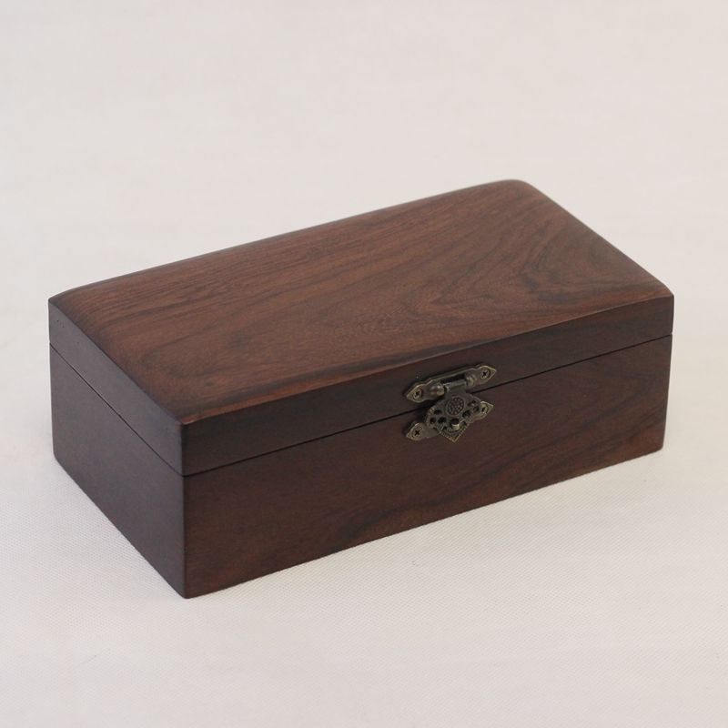 Caja de madera rectangular caja de almacenamiento de joyas Crfats Sundries organizador caja de regalo de mesa de boda