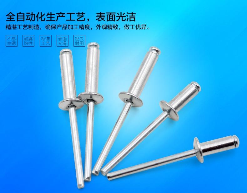 rivet al-rivet nail for steel sheet use M3.2 rivet nail with rivet tools use at good price