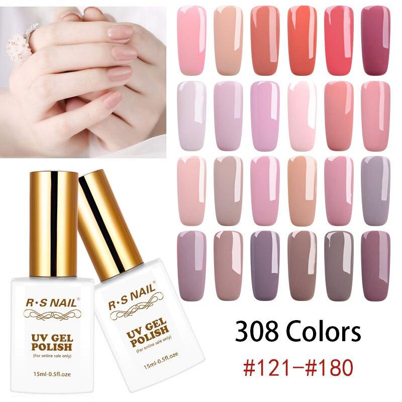RS de uñas 15ml Color UV LED Gel Esmalte de Gel laca...