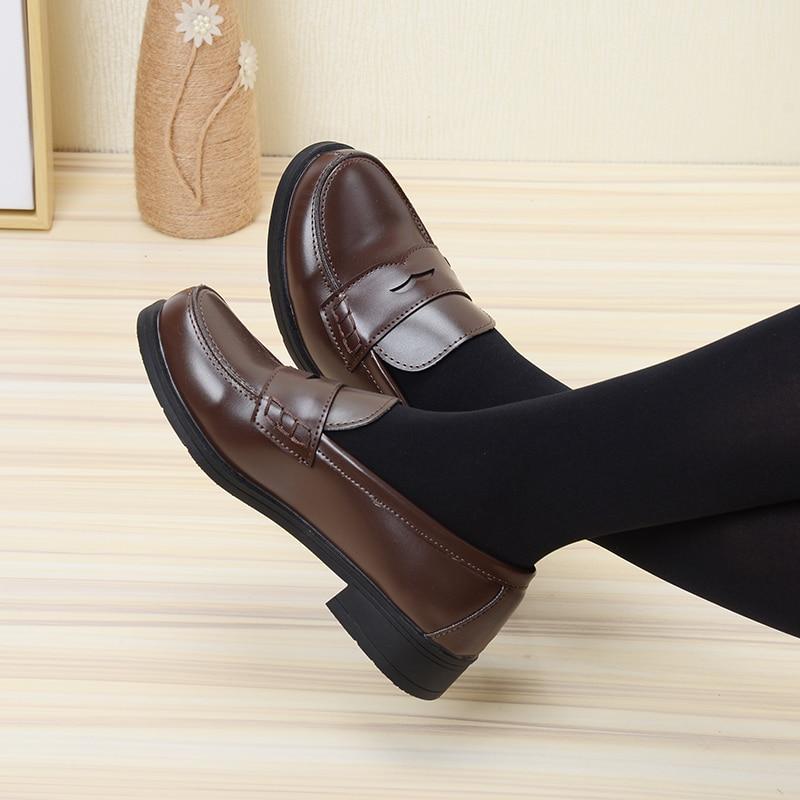 جديد النمط الياباني كلية طالب أحذية تأثيري لوليتا أحذية للنساء/فتاة موضة أسود/القهوة موحدة أحذية منصة