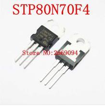 50 pz/100 pz STP80N70F4 80N70F4 80N70 TO-220 MOSFET di ALIMENTAZIONE N-CHANNEL 85A/68 v di trasporto libero
