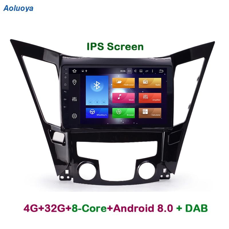 Aoluoya 4G RAM 32G ROM Octa Core Android 8,0 navegación GPS con DVD para coche reproductor para Hyundai Sonata I40 I45 I50 YF 2011, 2012, 2013, 2014