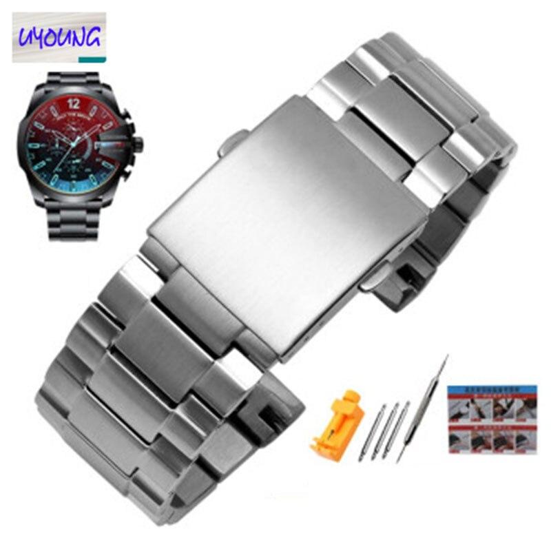 Ремешок для часов DZ4318, оригинальный стальной ремешок DZ4323 4283 4309 из нержавеющей стали, мужской браслет 26 мм