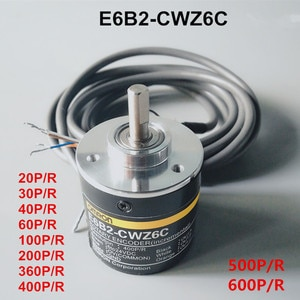 E6B2-CWZ6C Incremental Rotary Encoder 20/30/40/60/100/200/360/400/500/600P/R NPN output Rotary switch