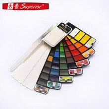 Art Supplies Transparent Solid Watercolor Paint Set Fan-shaped Collapsible Water Color Pigment