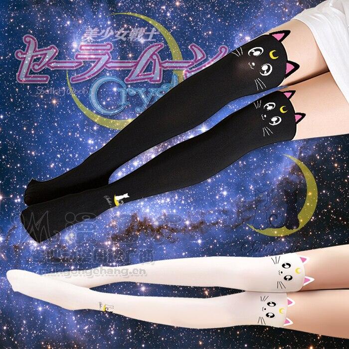 Sailor Moon Cosplay-medias de gato Luna