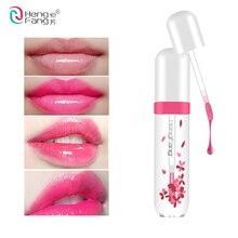 Mode Lippen Machen Up Wasserdicht Lang Anhaltende Lip Gloss Farbton Ändern Farbe Baby Lippen Transparent Blume Gelee Lippenstift Make-Up-Kit