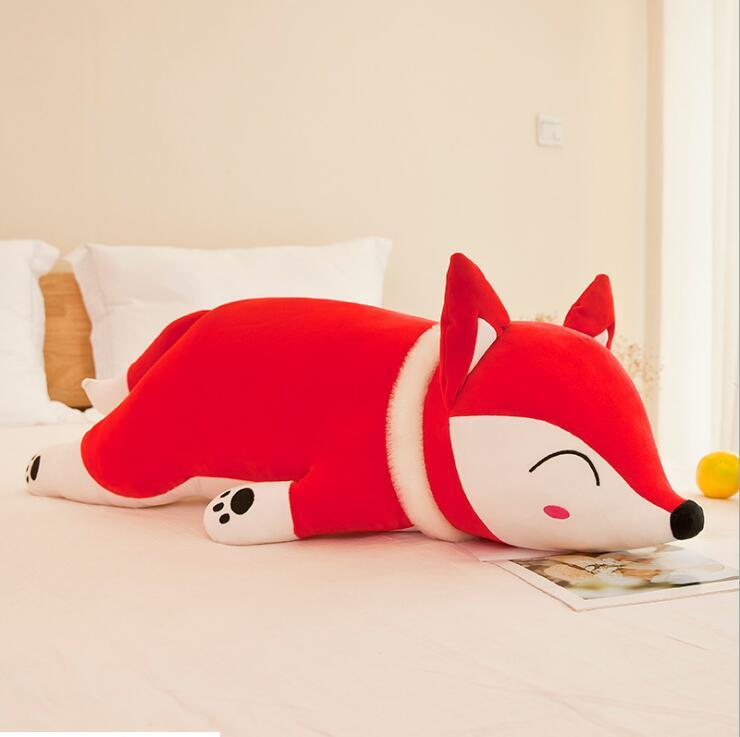 Scarf Fox PP Cotton Stuffed Plush Animal Toys for Children Soft Cushion/Pillow Kids Birthday Gifts Large Car Doll 35cm-90cm