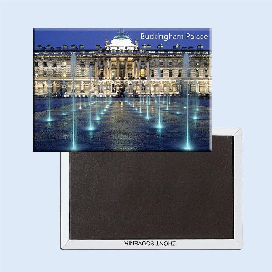 Ímãs turísticos souvemag inglaterra palácio de buckingham noite paisagem frigorífico ímã 5362