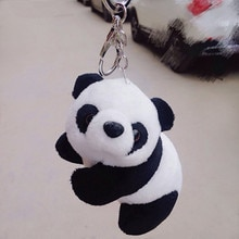 Jouets dessin animé en peluche mignon Panda porte-clés inde royaume-uni en vrac porte-clés voiture porte-clés hommes femmes Souvenir anniversaire cadeau chaveiro