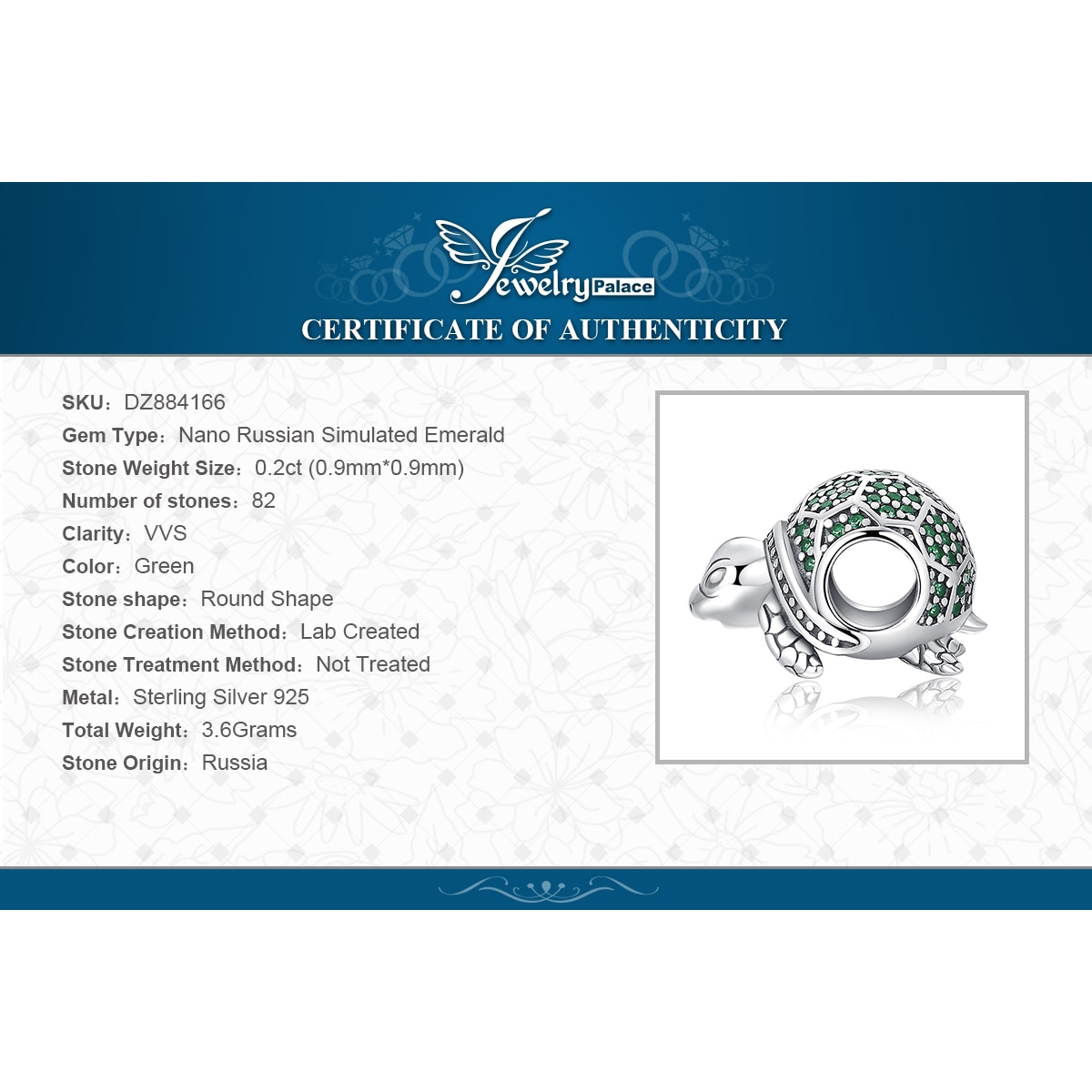 Купить с кэшбэком JewelryPalace Turtle 925 Sterling Silver Beads Charms Silver 925 Original For Bracelet Silver 925 original Beads Jewelry Making