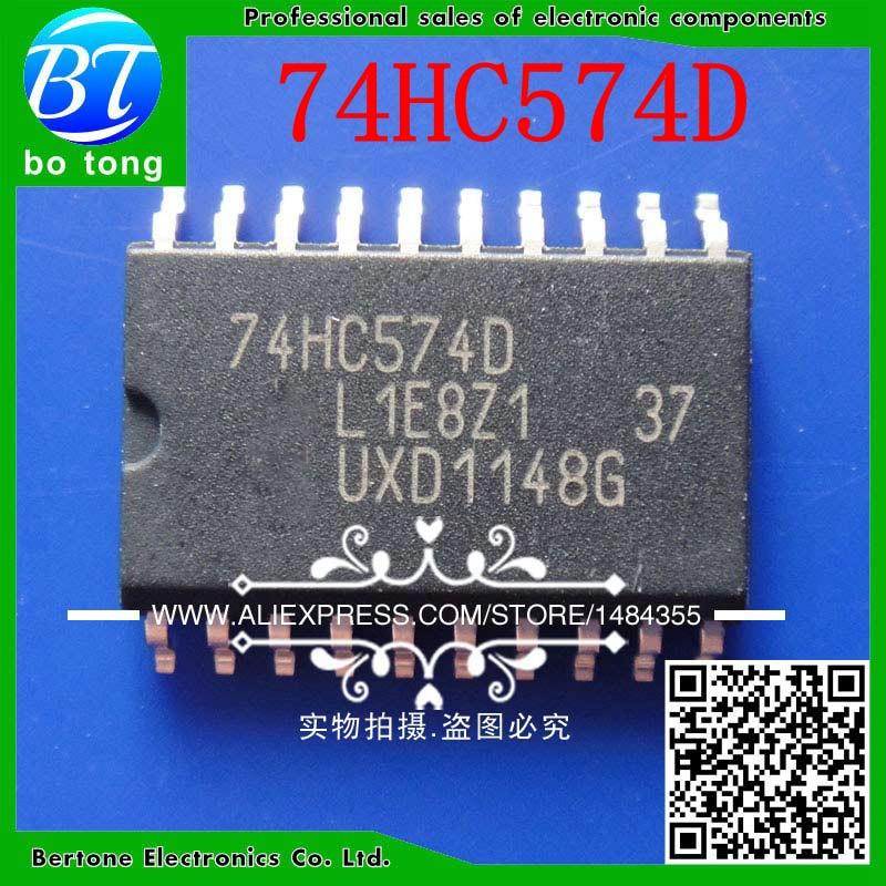 74HC574D 74HC574 74HC574 74HC574D SOP20 (50 pçs/lote)