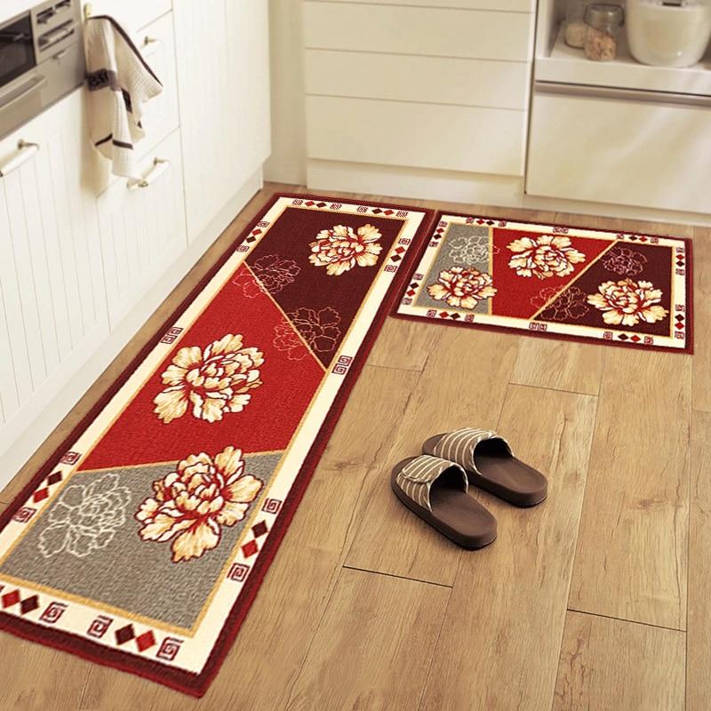 سجادة مطبخ على شكل زهرة غنية ، 50 × 80 50 × 120 سم ، للمدخل/المدخل ، الباب ، الحمام ، الشرفة ، غرفة المرحاض