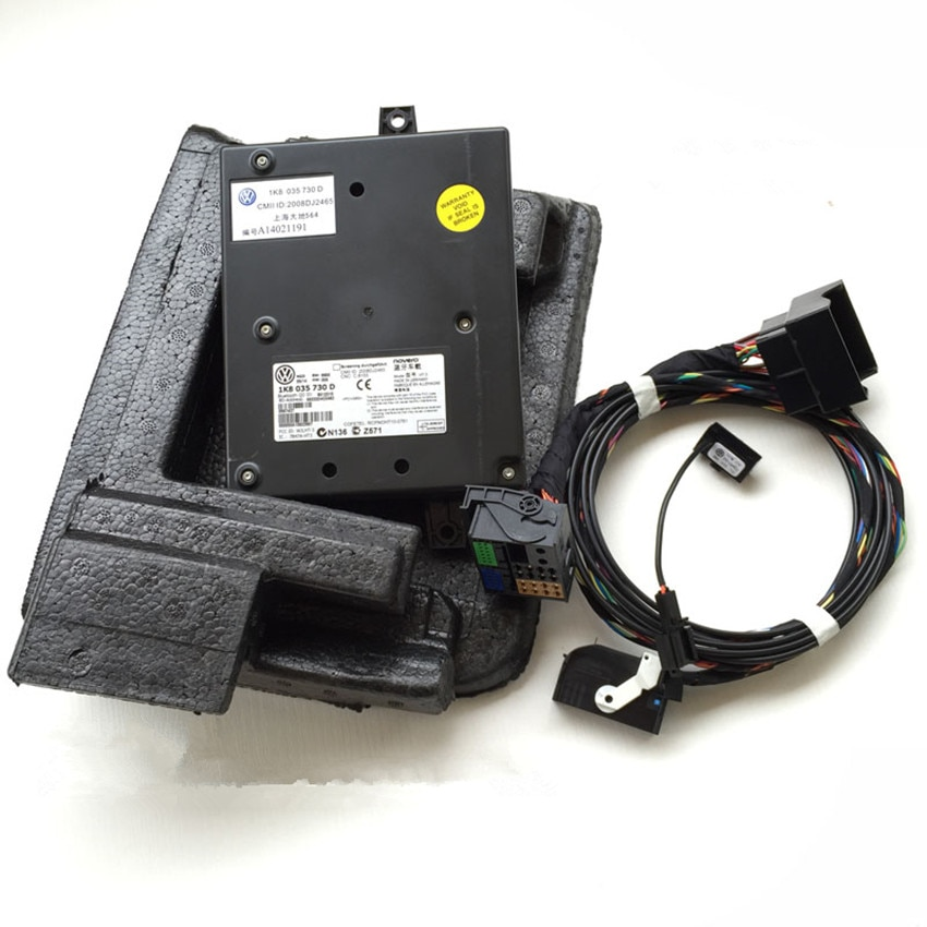 Módulo Bluetooth 1K8 035 730 D 9W2 + Arnés con micrófono 1K8 035 730 D para VW Golf MK6 Jetta MK5 Fit RCD510