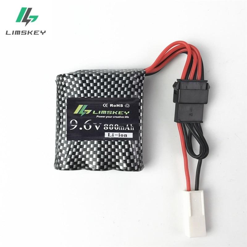 1 шт., 9,6 В, 800 мА · ч, 16500 батарея для 9115, 9116, 4CH, пульт дистанционного управления, автомобильный литий-ионный аккумулятор, запасные части, аксессуары для S912, вилка для EL-2P