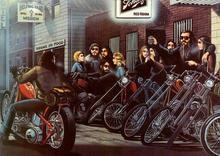 N2606 David Mann Ghost Rider Wall Sticker Silk Fabric Poster Art Indoor Decor Bright