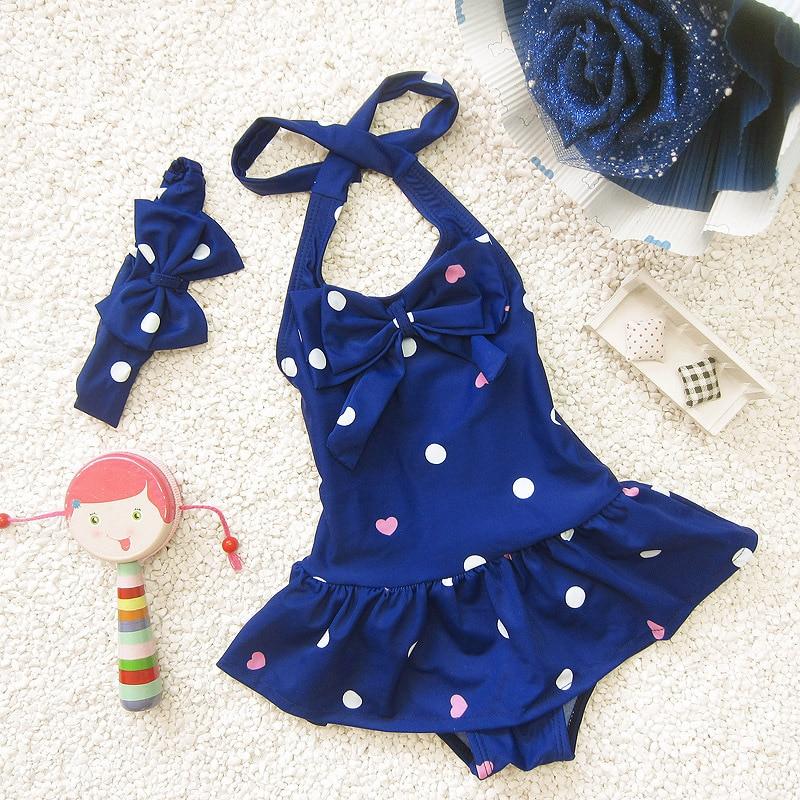 Menina do bebê maiô crianças bonito do bebê roupas de banho meninas infantis terno de natação piscina uma peça azul vermelho s m l xl