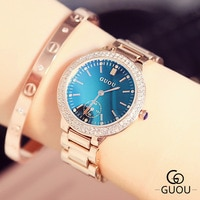 Top Brand Rhinestone Watch Women Luxury Full Steel Watches Unique Dial Design Ladies Watches Gift relogio feminino montre femme
