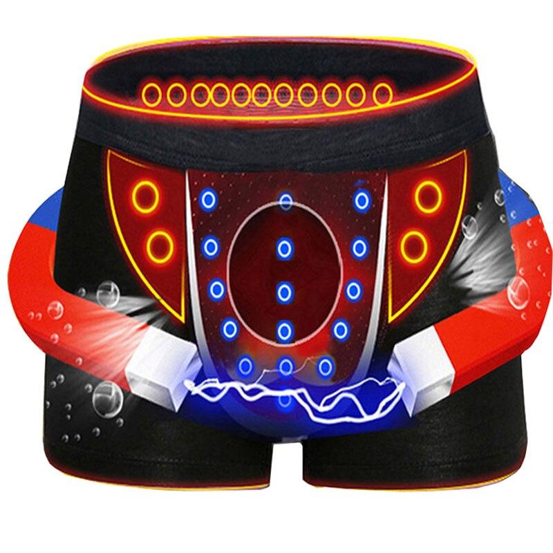 3 uds. Calzoncillos de calidad para hombre, Boxers de Modal de Color sólido, Boxers sexis transpirables, Boxers de terapia magnética, ropa interior para hombre